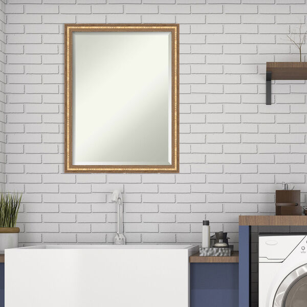 Fluted Champagne 20W X 26H-Inch Decorative Wall Mirror, image 6