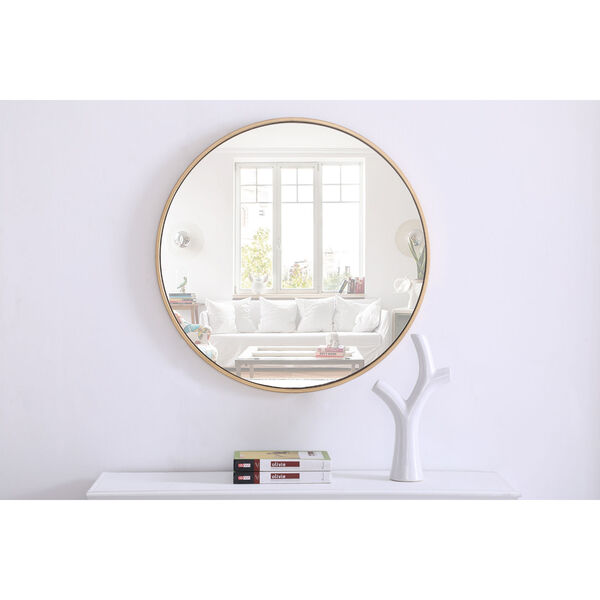 Eternity Round Mirror with Metal Frame, image 3