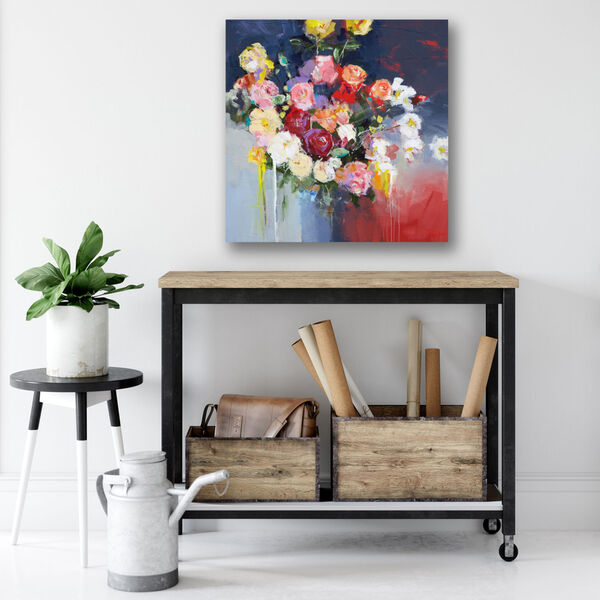 White Flowers Gallery Wrapped Canvas, image 1