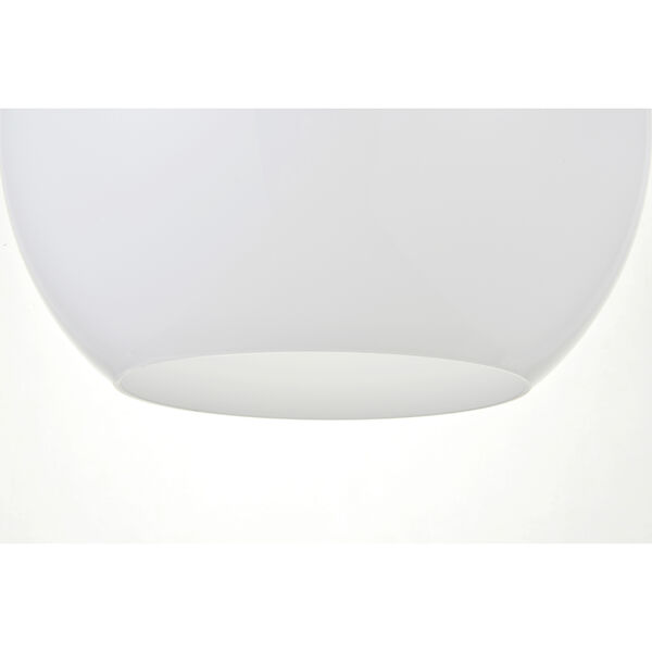 Baxter Black and Frosted White 11-Inch One-Light Pendant, image 4