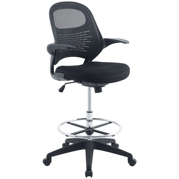 Advance Drafting Stool in Black, image 4