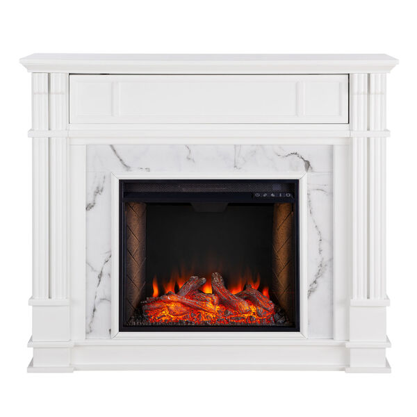 Highgate White Electric Alexa Smart Media Fireplace, image 2