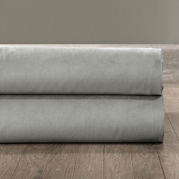 Signature Silver Grey Blackout Velvet Pole Pocket Single Panel Curtain, 50 X 108, image 9