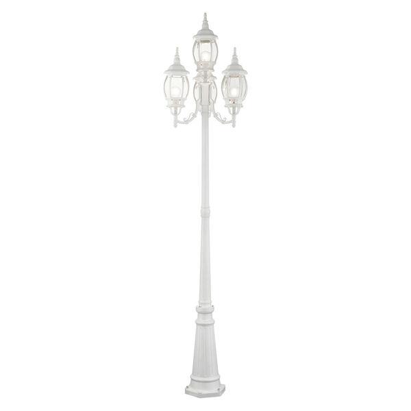 Frontenac Textured White 24-Inch Four-Light Outdoor Post Lantern, image 1