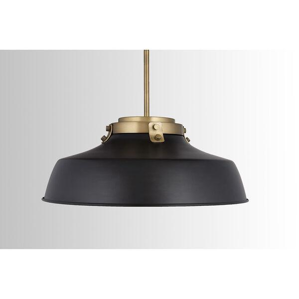Oakwood Matte Black One-Light Pendant, image 3