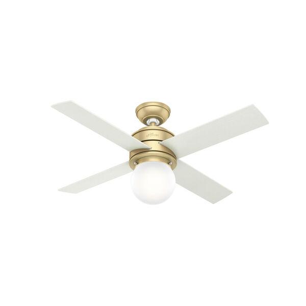 Hepburn Modern Brass 44-Inch LED Ceiling Fan, image 1