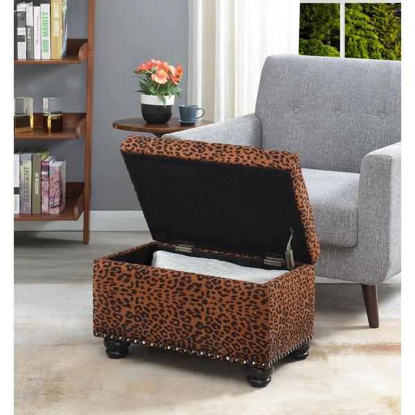 Designs4Comfort 5th Avenue Forest Leopard Print Storage Ottoman, image 3
