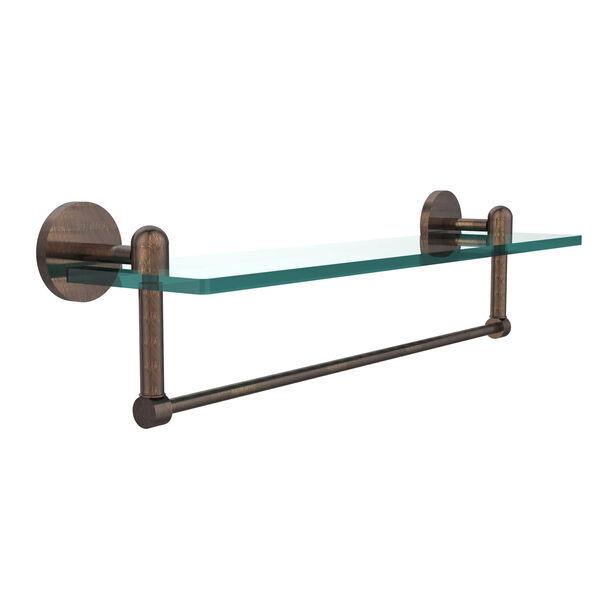 Tango Venetian Bronze 22x5 Glass Shelf w/ Towel Bar, image 1