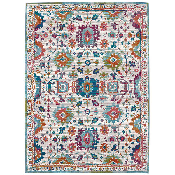 Meraki Sublime Multicolor Oyster Rug, image 1