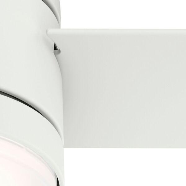 Dublin Matte White 44-Inch Two-Light LED Ceiling Fan, image 6