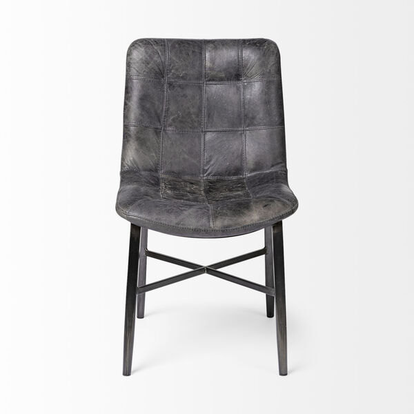Horsdal Black Leather Seat Dining Chair, image 2