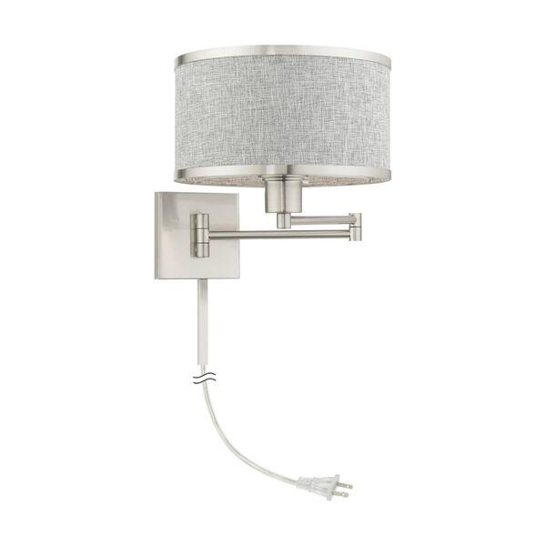 Park Ridge Brushed Nickel One-Light Swing Arm Wall Lamp, image 4