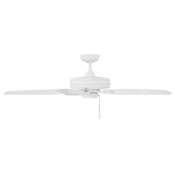 Kentwood White  Five-Blade Ceiling Fan, image 1