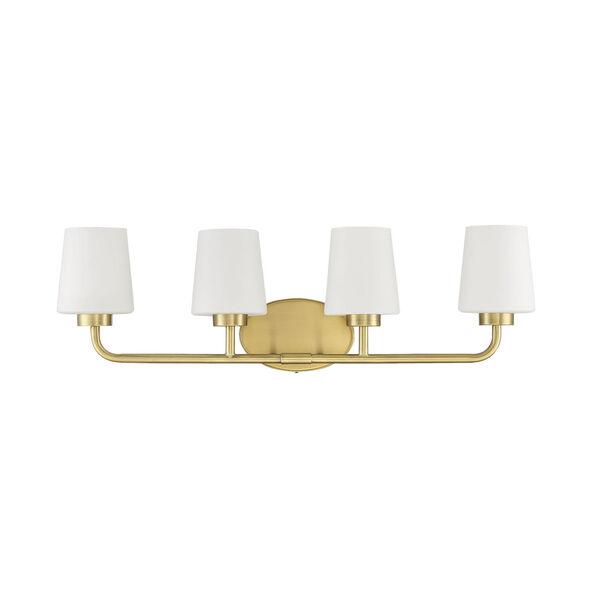 Capra Warm Brass Four-Light Bath Vanity, image 2