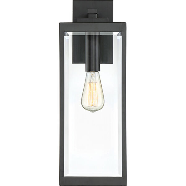 Pax Black 20-Inch One-Light Outdoor Wall Lantern with Beveled Glass, image 3