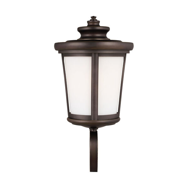 Eddington Antique Bronze One-Light Outdoor Wall Sconce with Cased Opal Etched Shade Energy Star, image 1