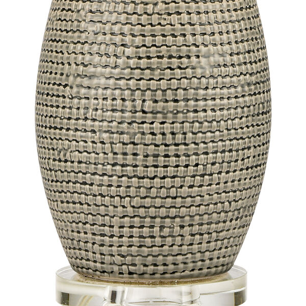 Port Lewick Gray Silver Grey Galze Clear Crystal One-Light Table Lamp, image 4