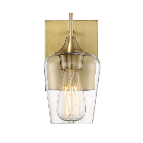 Selby Warm Brass One-Light Wall Sconce, image 1