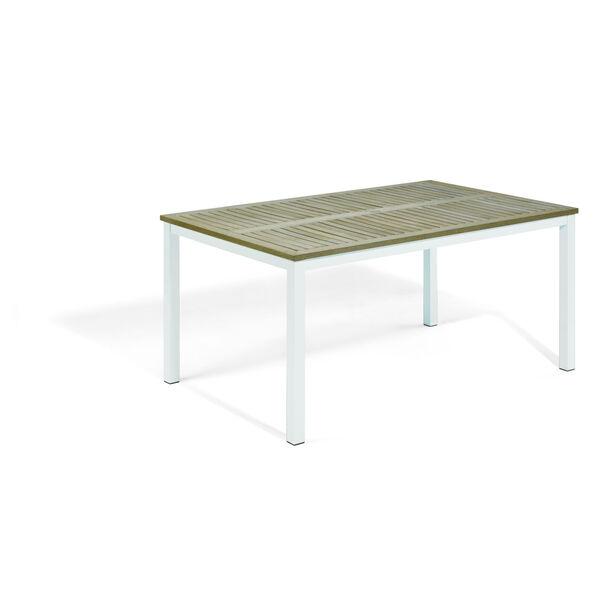 Travira Coated Aluminum Frame 63-Inch Rectangular Dining Table, image 1