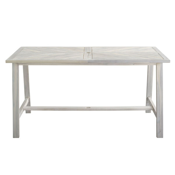 Vincent White Wash Outdoor Dining Table, image 1