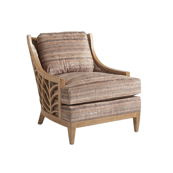 Los Altos Brown and Beige Marion Chair, image 1