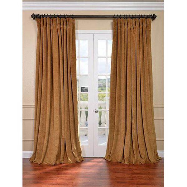 Signature Amber Gold Double Wide Velvet Blackout Pole Pocket Single Panel Curtain, 100 X 84, image 1