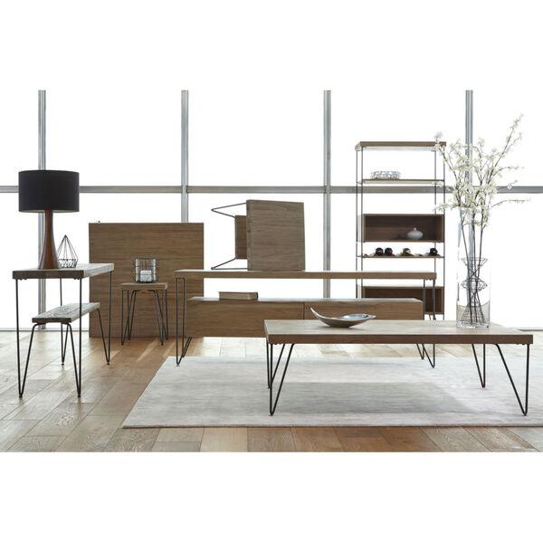 Everett Natural Rectangular Chairside Table, image 4