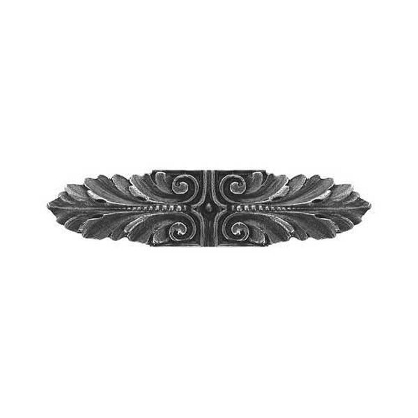 Antique Pewter Opulent Scroll Pull, image 1