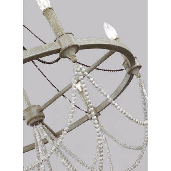 Northam Distressed White Six-Light Chandelier, image 4