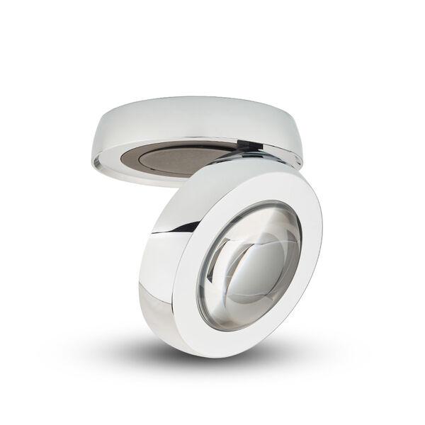 Node Polished Chrome LED Flush Mounted Downlight, image 1