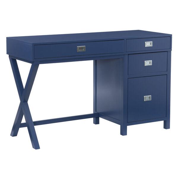 Max Navy Silver Desk, image 1