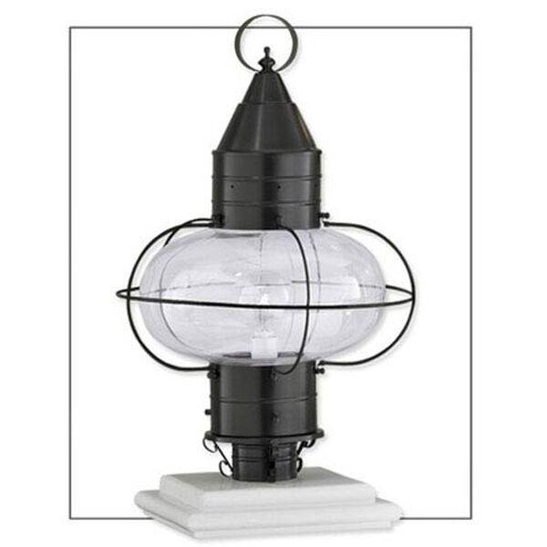 Classic Onion Black Single Light Outdoor Medium Post Mount, image 1