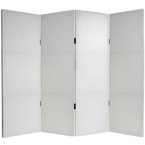 Four Ft. Tall Do It Yourself Canvas Room Divider Four Panel, Width - 63 Inches, image 1