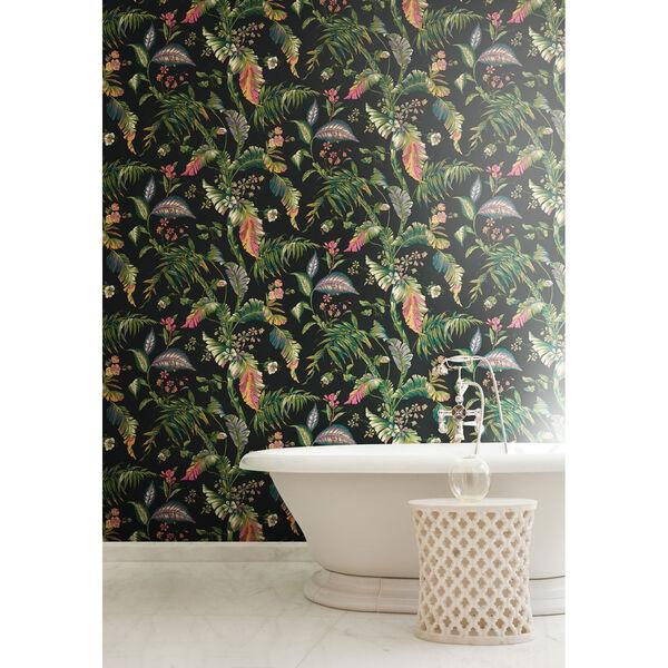 Ashford House Tropics Black and Green Fiji Garden Wallpaper, image 3