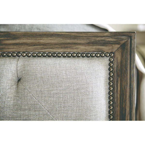 Taupe Canyon Ridge Upholstered Tufted Bed, image 5