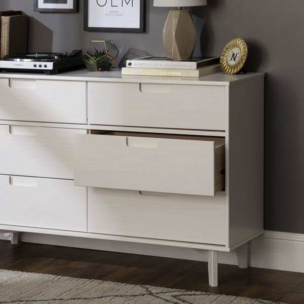 Sloane White Groove Dresser with Six Drawer, image 2