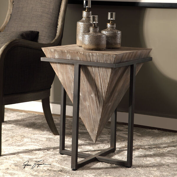 Bertrand Wood Accent Table, image 2