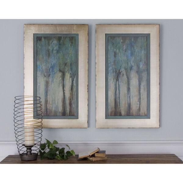 Whispering Wind Aqua Blue Framed Art, Set of 2, image 1