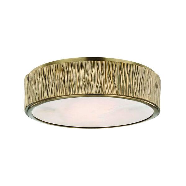 Crispin Aged Brass LED Flush Mount, image 1