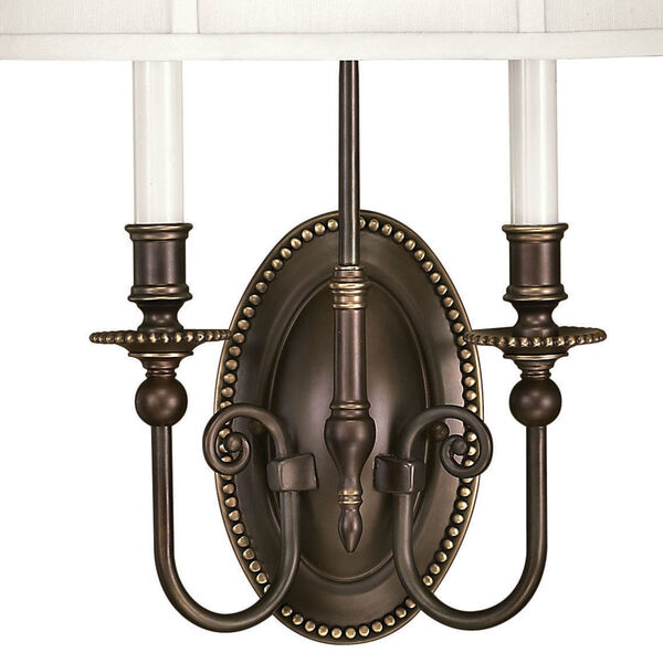 Oxford Olde Bronze Two-Light Wall Sconce, image 3