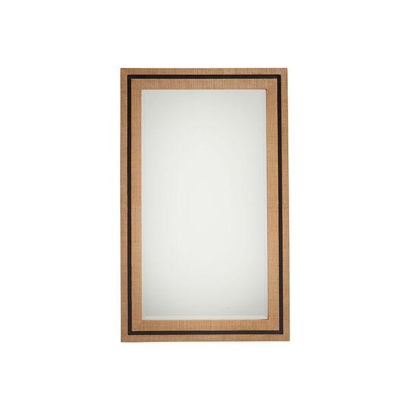 Newport Brown La Costa Rectangular Raffia Mirror, image 1