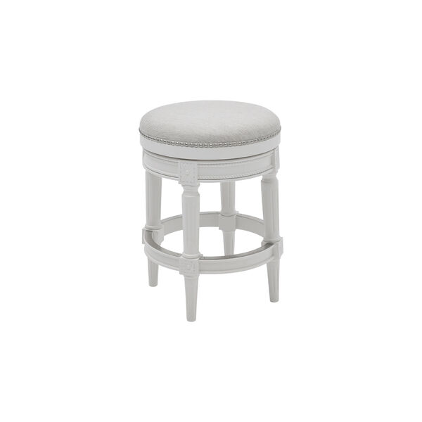 Chapman Alabaster White Backless Counter Height Stool, image 1