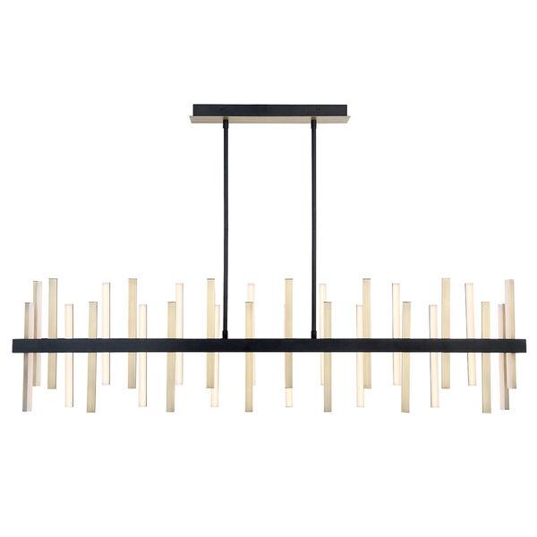 Harmonix Black Aged Brass 56-Inch LED  Chandelier, image 2