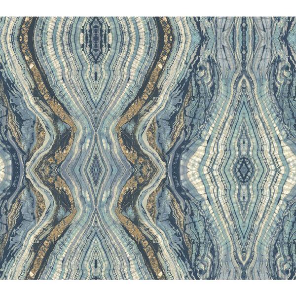 Antonina Vella Blue Kashmir Kaleidoscope Wallpaper, image 2
