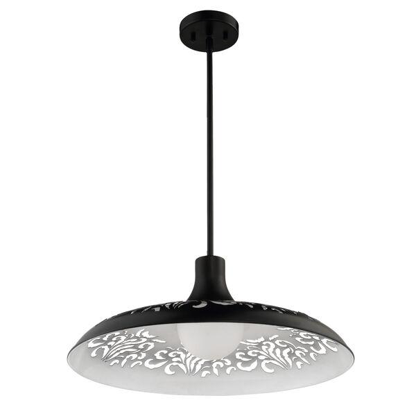 Flat Black 21-Inch One-Light Pendant, image 4