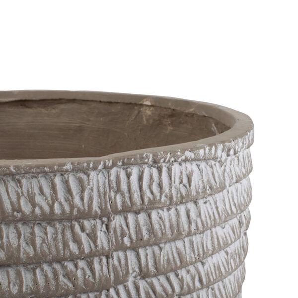 Beige Round Flower Pot ,Set of 5, image 3
