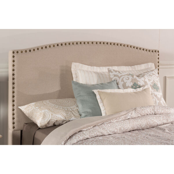 Kerstein Light Taupe Fabric Full Headboard Only, image 1