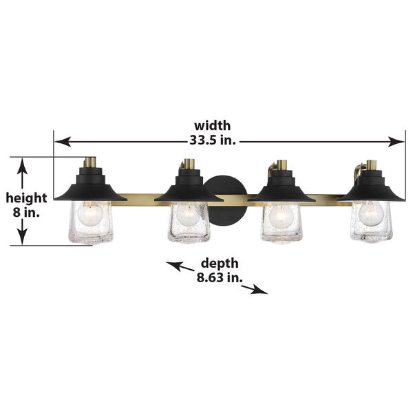 Westfield Manor Sand Coal And Soft Brass Four-Light Bath Vanity, image 2