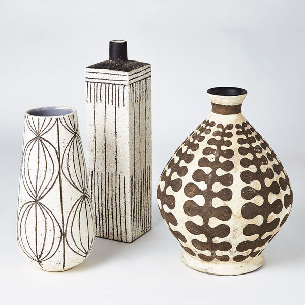 White Graffiti Square Vase, image 3