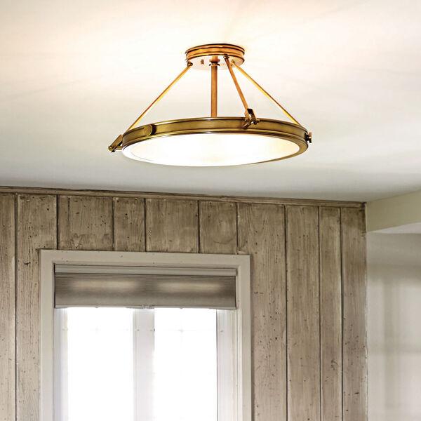 Collier Heritage Brass 22-Inch Four-Light Semi-Flush Mount, image 5